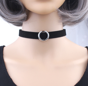 30ed79c128d Women Clavicle Necklaces Gothhic Black velvet leather Choker Necklace Bar Pendant  Jewelry Collar Necklace for women