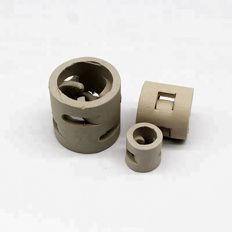 Chemical Random Tower packing 25mm Pall Ring Ceramic