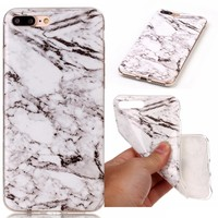 2016 New Marble Skin Soft Silicone TPU Smooth Protective Phone Case for iPhone 7 7 plus