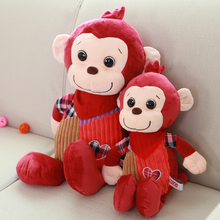 wholesale custom stuffed plush monkey hug each other toys
