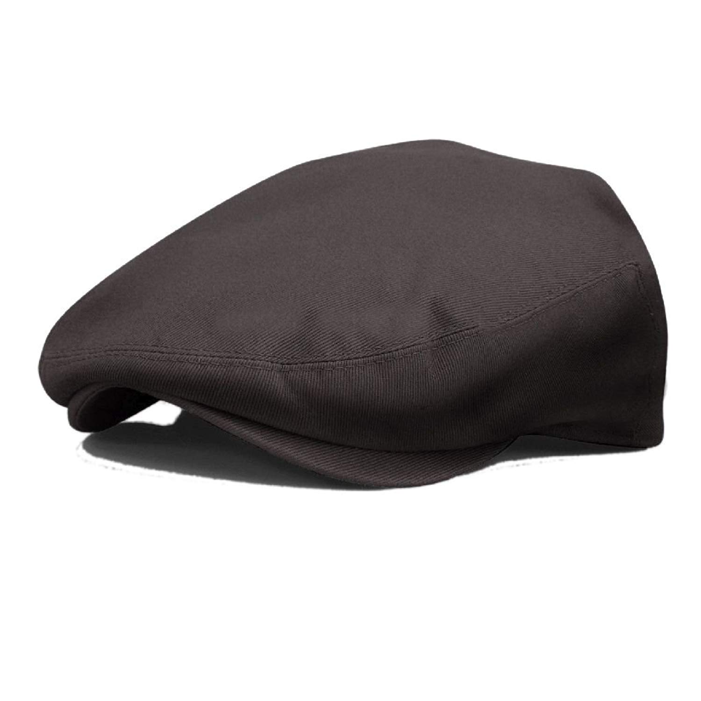 2aeeeb29357 Get Quotations · Flat Newsboy Cotton Gatsby Cap Mens Ivy Hat Golf Driving  Summer Sun Flat Cabbie