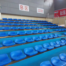 indoor mobile retractable seating system,retractable bleacher ,telescopic grandstand for sports center