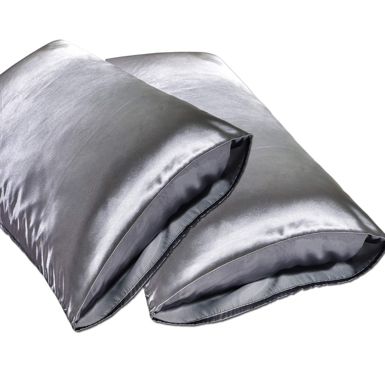 Queen 20x30 Spasilk Hair Beauty Satin Pillowcase Aqua