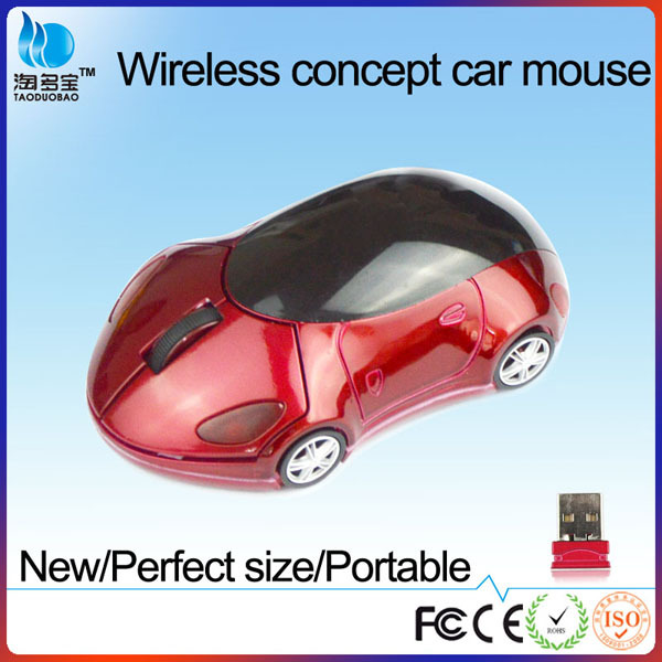 VMW-152 custom wireless computer mouse car shaped mouse red
