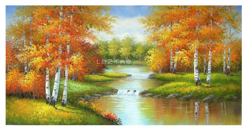bouleau paysages peinture à l'huile de la forêt de vente