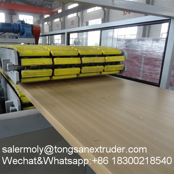 Best selling PP/PE+WOOD boor board making machine with price