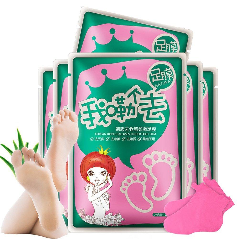 Scala 8pcs=4 Bag/lot Super Exfoliating Foot Mask Socks For Pedicure Sosu Socks Peeling For Foot Care Beauty Baby Foot Mask (4 Packs)
