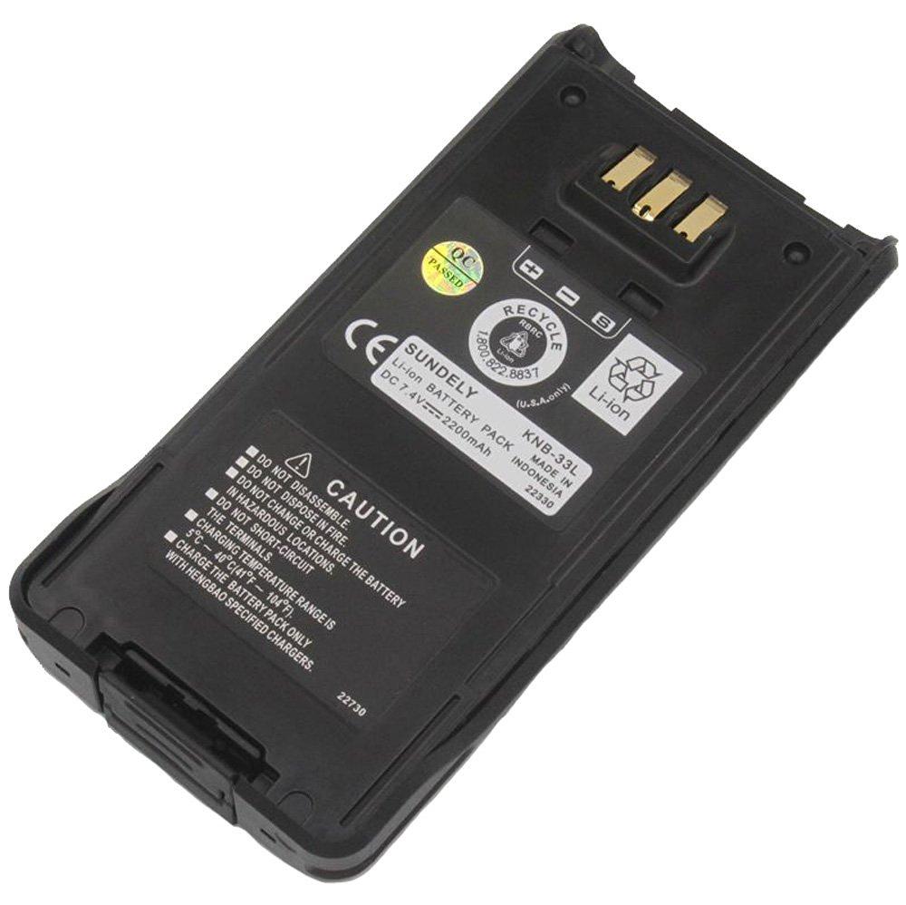 SUNDELY® 2200mAh Li-ion Replacement Battery Pack for Kenwood Radio TK-2180 TK-3180 TK-5210 TK-5310 KNB-33L