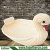 Hand weave rustic animal storage basket garden wicker duck flower pot for baby photography props