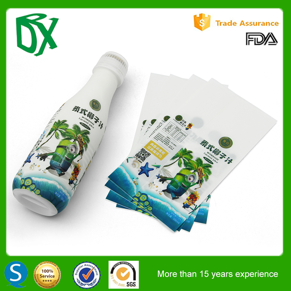 Custom Plastic personalized baby bottle label Manufacturer in china
