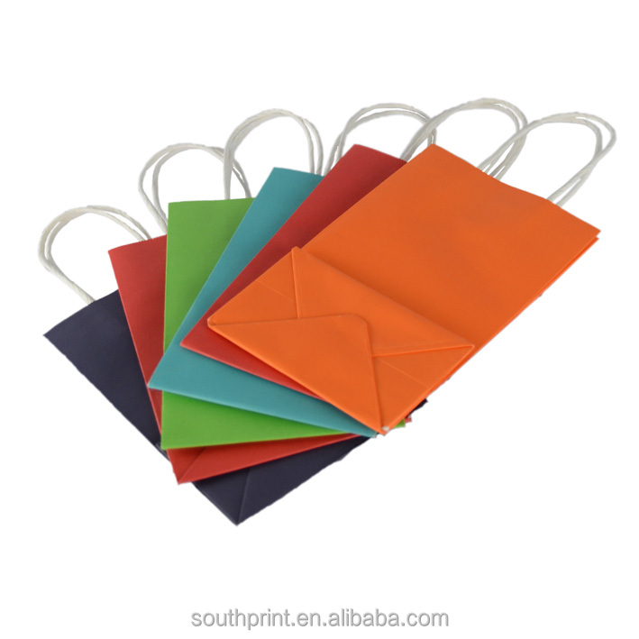 Wholesale Bright Primary Color Paper Bags Party Favor Bags
