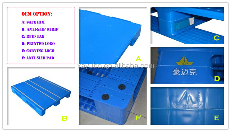High Quality Durable 1200x800 Euro Plastic Two Base Pallet for Sale