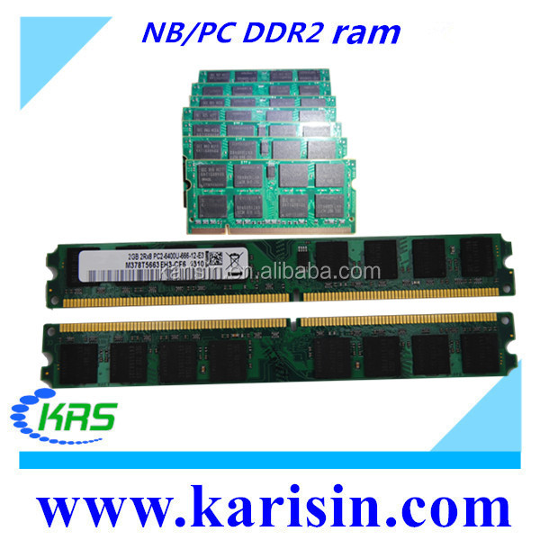 Brand new cheap price PC2-6400 1gb 2gb ddr2 pc800 ram memory with ETT original chips