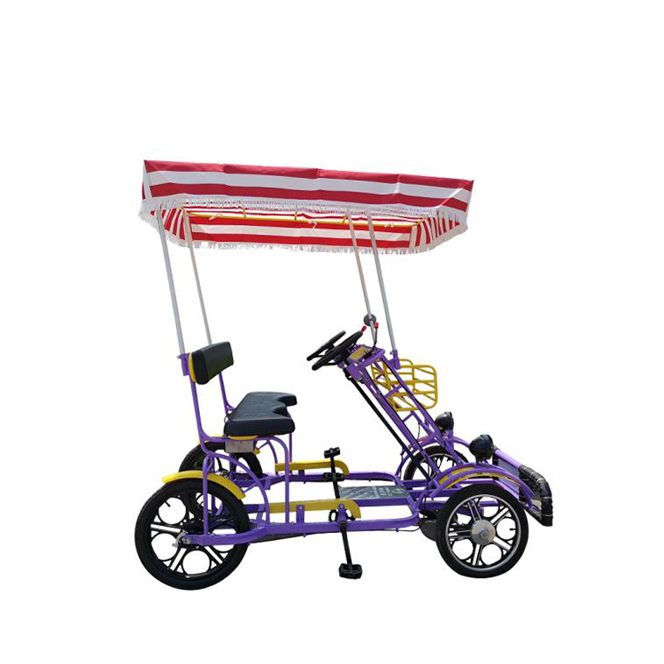 Jack Luxurious 4 Person Tandem Quadricycle Surrey Sightseeing Bike For Sale