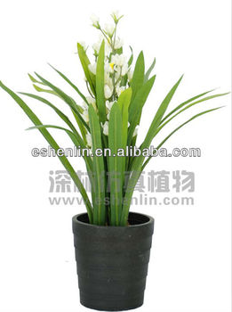white orchid flower mini plant,the best-quality artificial plants Artificial Indoor Flowers