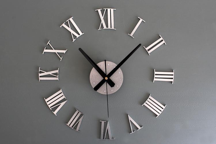 Vintage 3D DIY Roman Numerals Wall Clock Creative
