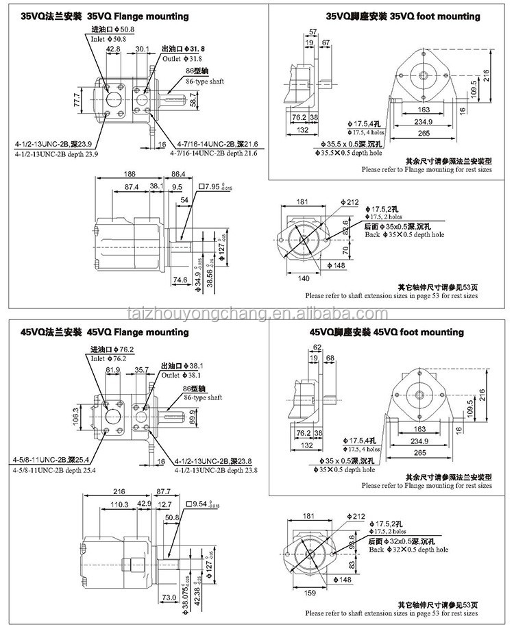 v series wholesale vickers hydraulic fuel hydraulic vane