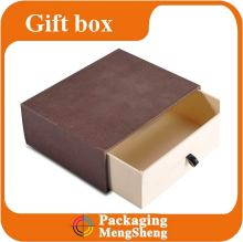sliding style paper box printed cardboard drawer box luxury packaging box with ribbon handle