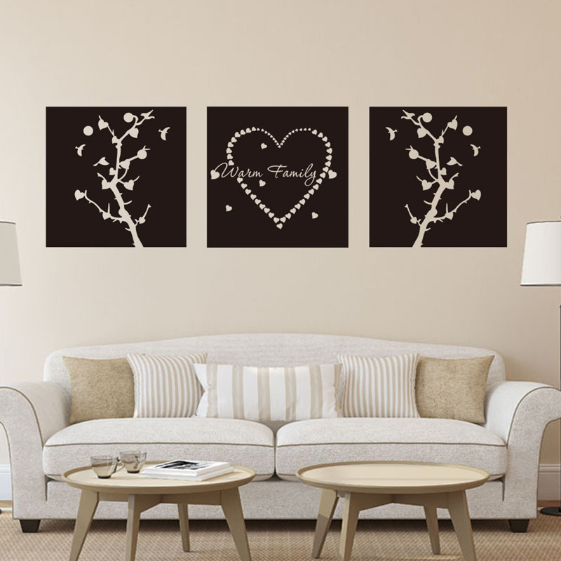 warm family Wall Sticker Removable PVC Home decoration DIY Stickers Decals papel de parede para quarto