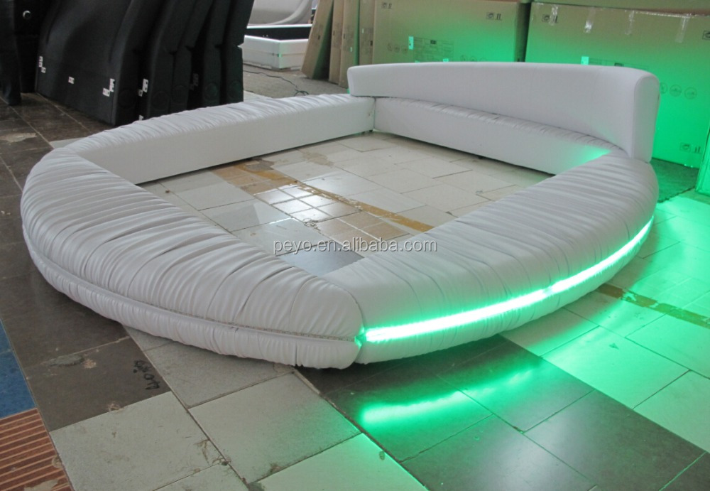 bedroom furniture round bed with led buy round bed with led led bed cheap round beds product. Black Bedroom Furniture Sets. Home Design Ideas