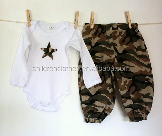 Baby camouflage romper sets tamil boys baby names boutique outfits