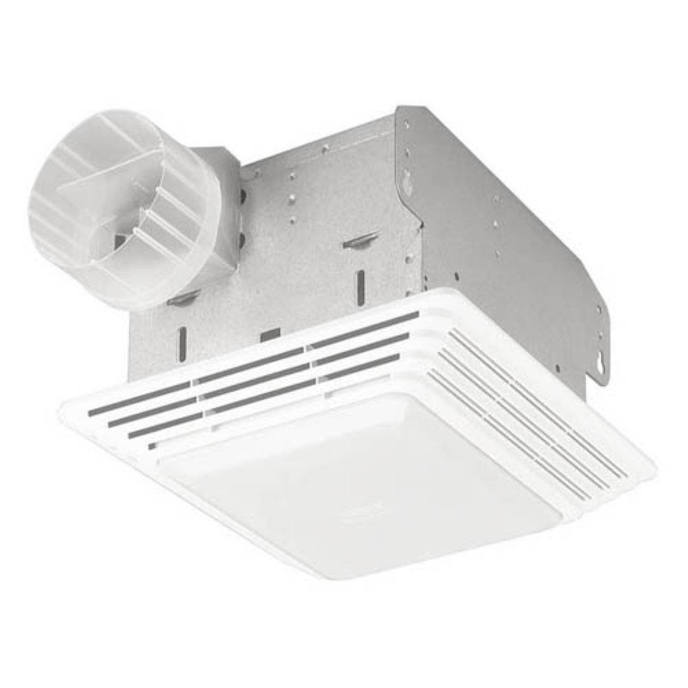 Broan-NuTone HD50LNT Heavy Duty Fan/Light, 50 CFM, 1.5 Sones. 100W Incandescent Light (bulb not included)