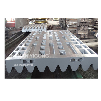 high manganese steel casting jaw crusher spare parts jaw plate
