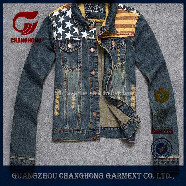 Western style bespoke autumn long sleeve sexy ladies fitting size denim jacket with holes