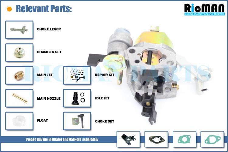 Generator Gasoline Parts Ruixing Carburetor Adjustment Trimmers-2kw Gx160  Gx200 168f Engine High Performance Carburetor - Buy High Quality