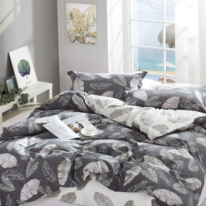 Adult Bedroom 100% cotton Luxury Hotel Printed Bedding Set Printed Duvet Cover