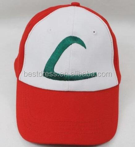 walson Anime Cospaly Hat Pokemon ASH KETCHUM Visor Cap Costume Play Baseball Hat
