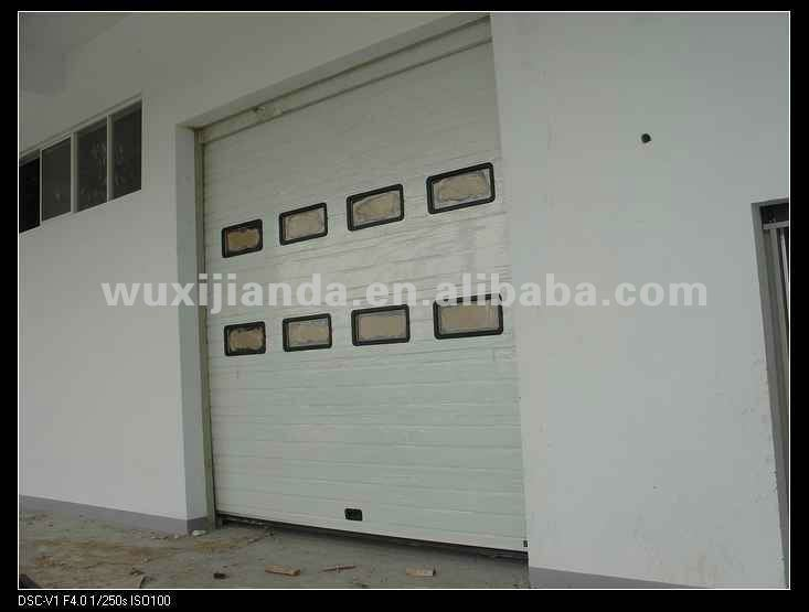 Industrial Sliding Overhead Sectional Steel Door/gate With Windows ...