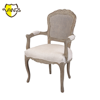 Upholstered Rattan Back Wooden Armchair Master Home Furniture Antique Chair  Styles Pictures