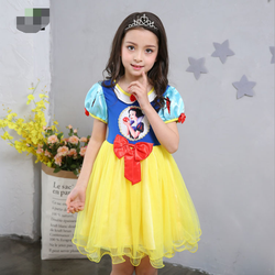 CL0129A Girls colour matching pettiskirt cartoon snow white dress