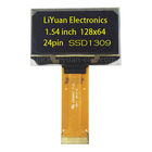 1.54 inch 128x64 yellow super thin 1.45mm lcd OEL oled display screen
