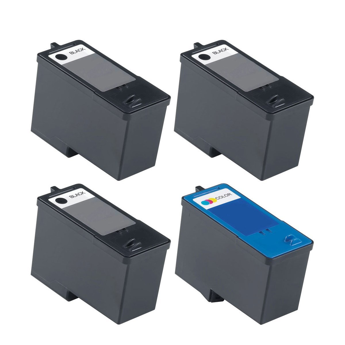 Get Quotations · 4 Pack Remanufactured DELL (Series 9) MK992 and MK993 (3  Black and 1