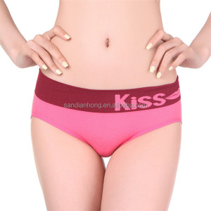 Online shopping soft high waist woman panties underwear seamless