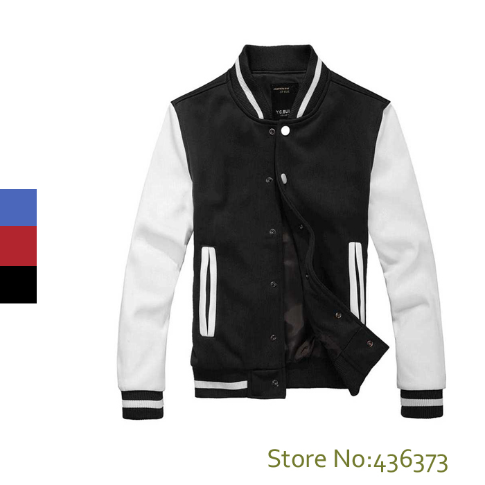 High Quality Mens Casual Classic Simple Design Letterman
