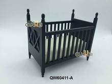 1:12 Dollhouse Miniature Furniture Nursery Room Baby nursery Baby Crib Cradle w/Mattress QW60411