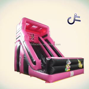 Mini pink kids inflatable dry slide for rental, family yards cheap inflatable slide for family use