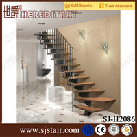 internal mild steel and oak wood I shape straight staircase indoor