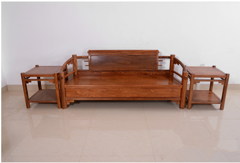 2017 New Simple Design Wooden Small Sofa Wood Set With