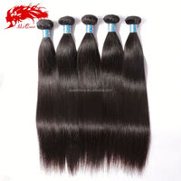 100 human hair peruvian hair extension weft straight hair weaving 18inch natural color 1b# DHL free shipping