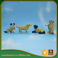 New year gift 2017 polyresin dog statue chinese zodiac animal figurines