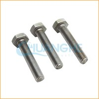 China supplier sales din 933 / astm a325 full threaded hex bolt