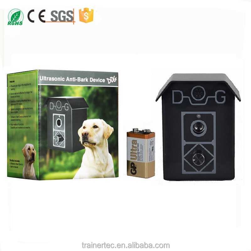 Ultrasonic Bark House dog bark collar Detects the sound of barking up to 15 meters