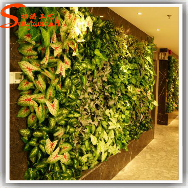 Hotel Lobby Artificial Grass Plant Wall Decor Artificial