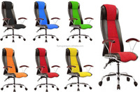 recline mesh chair comfortable ergonomic pu cover office chair