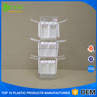 Modern cell phone retail store acrylic counter top phone accessory display stand for phone cases