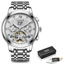 Мужские механические часы LIGE Tourbillon, роскошные модные брендовые спортивные часы из нержавеющей стали, мужские автоматические часы(Китай)